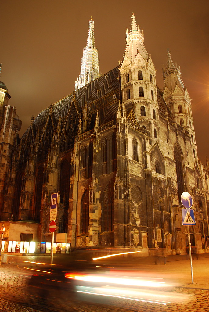 St Stephen S Cathedral Vienna At Night This Is St