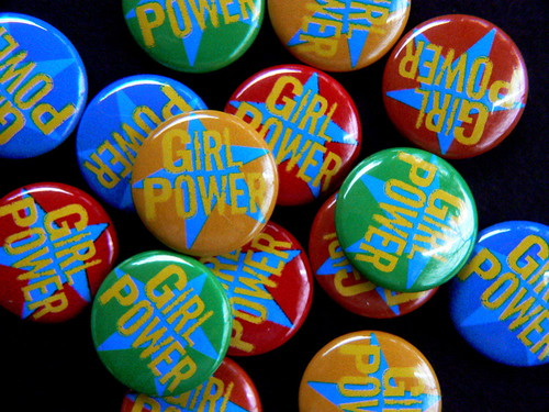 girl power pin-back buttons | by Traci Bunkers
