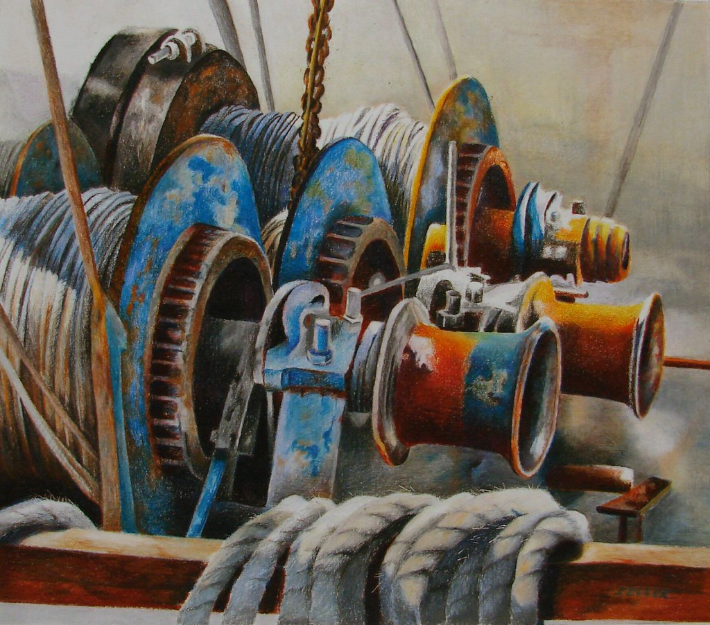 Winch One Prismacolor | Colored pencil drawing, shrimp ...