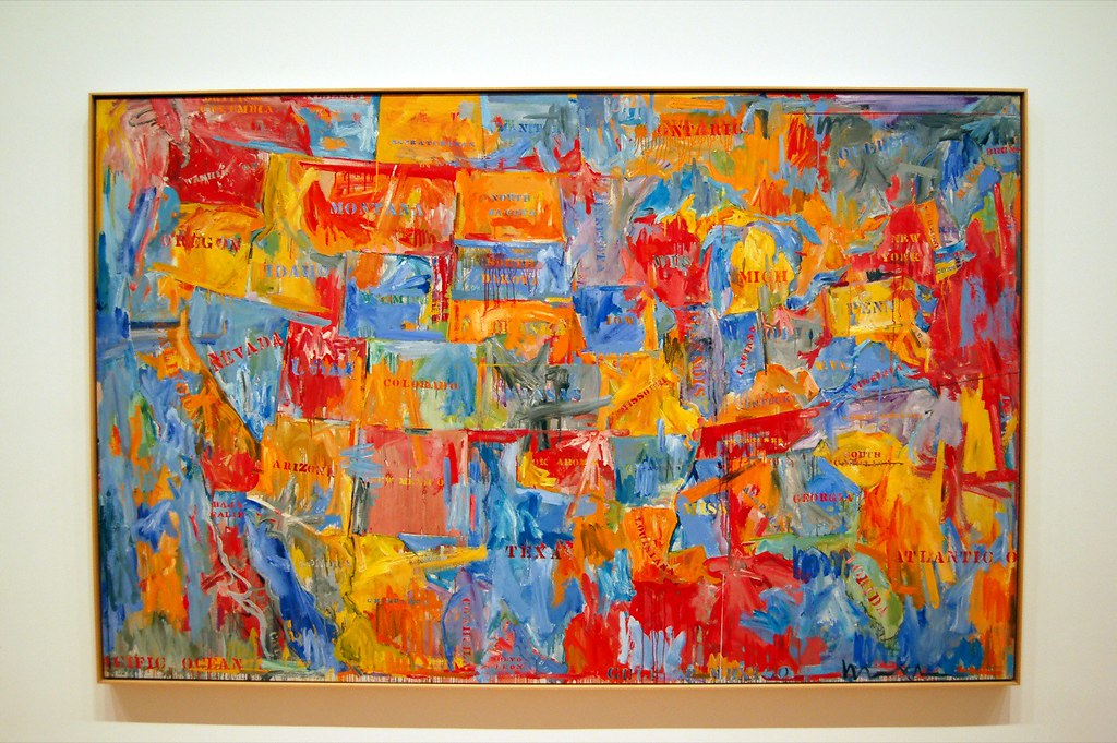 "Map"" by Jasper Johns At MOMA New York Dano"