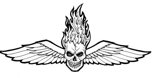 Winged Skull Flaming Joe 13 Flickr