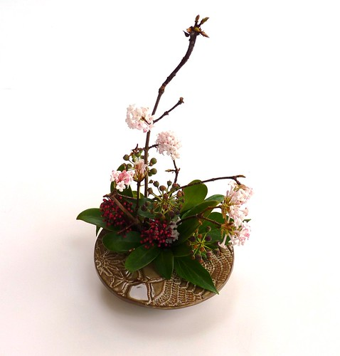 ikebana ceramic bowl