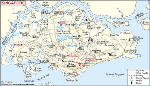 Singapore City Map Notscale Jpg From Maps Of The World