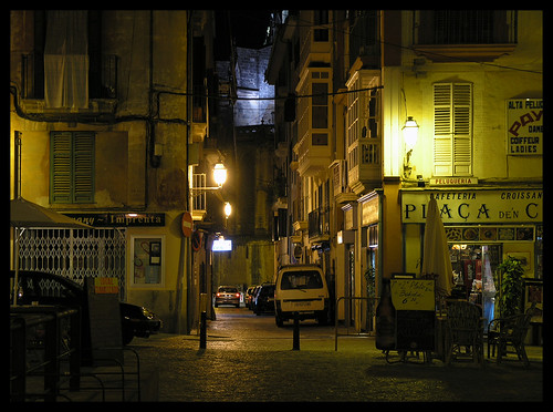 Old street in Palma - night shot | by Romeodesign