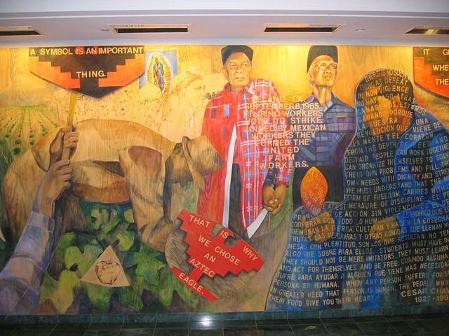 Cesar chavez memorial mural sonoma state university det for Cesar chavez mural