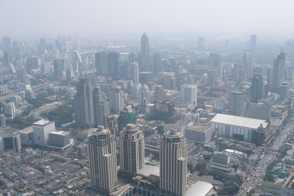 Bangkok panorama from Baiyoke Sky Tower II (2007-01-178)