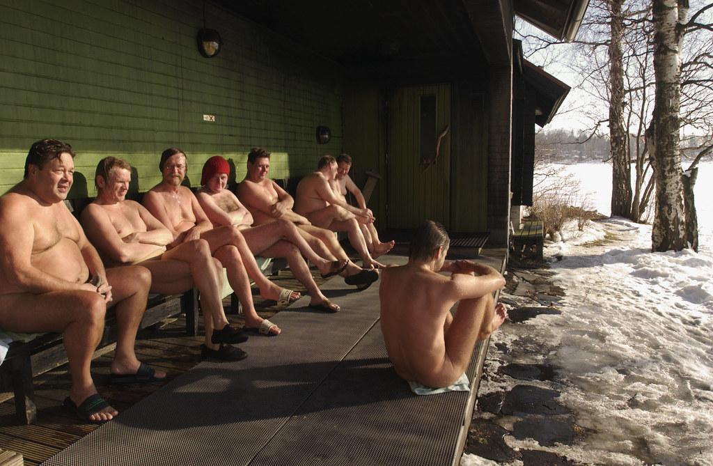 finland sauna nud video