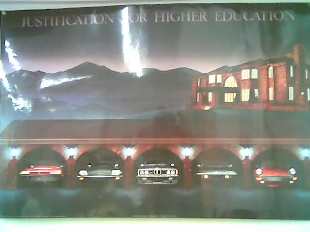 justification for higher education poster | Braja | Brooke King ...
