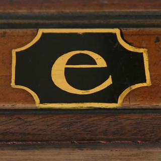 exhibition cabinet letter e | by Leo Reynolds
