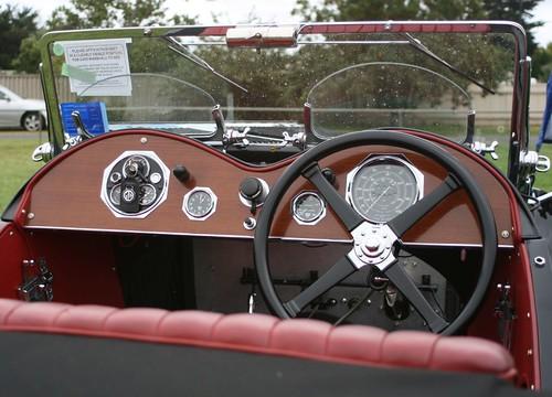 classic british car interior burgundy shot at 2007 all br flickr. Black Bedroom Furniture Sets. Home Design Ideas