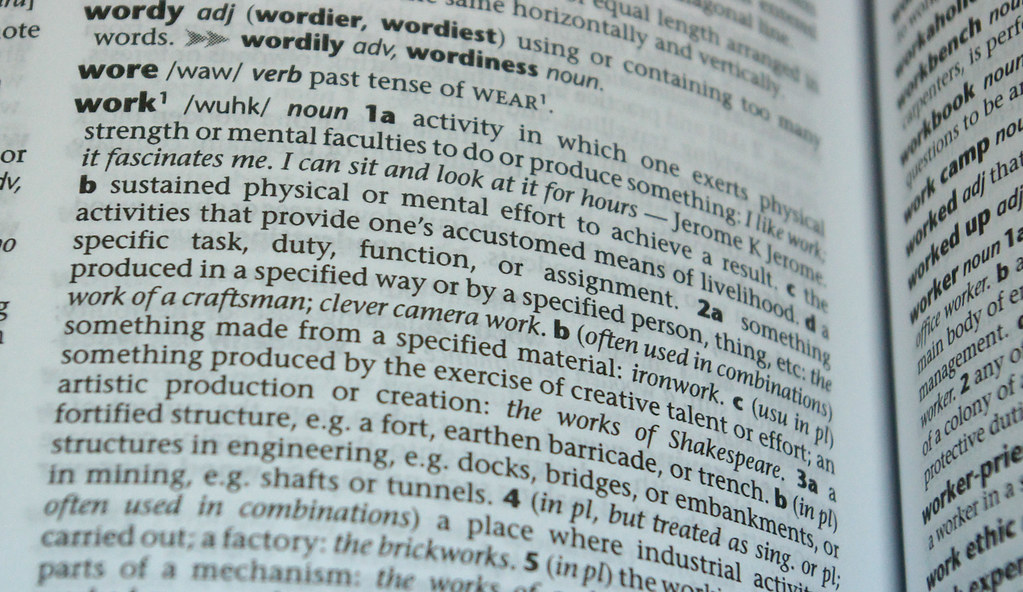 dictionary definition: work | Today, on Valentine's Day ... - photo#31