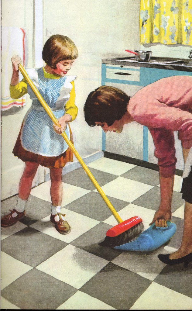 Vintage ladybird books 39 helping at home 39 an image from for Home by m