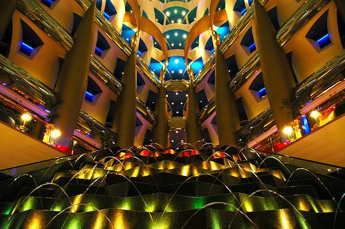 The burj al arab main entrance this photo almost looks for Burj al arab hotel inside
