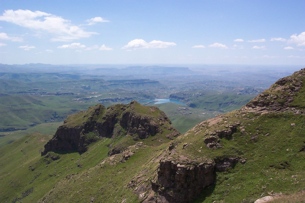 Tugela River Looking down on...