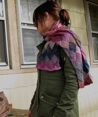 entrelac scarf | by knitting school dropout