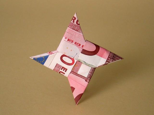 origami shuriken origami shuriken folded from two 10. Black Bedroom Furniture Sets. Home Design Ideas