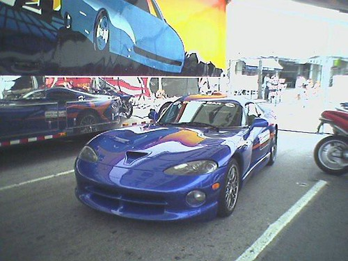 dodge viper pace car getting ready to take the track at mi flickr. Black Bedroom Furniture Sets. Home Design Ideas