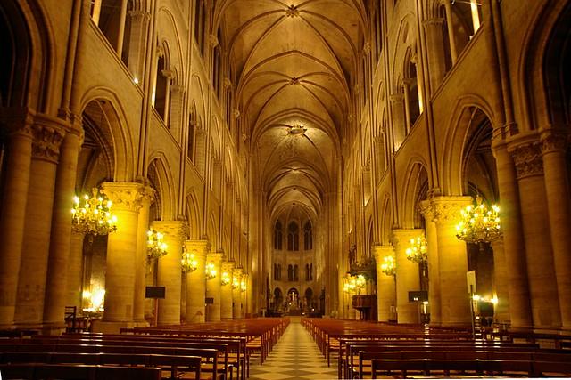 Notre Dame De Paris Nef La Nuit Pour Tous Ceux Qui N
