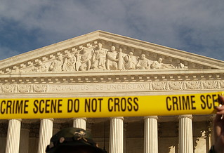 """Crime Scene, Do Not Cross"" Tape At The United States Supreme Court During The January 27, 2007 March On Washington (Washington, DC) 