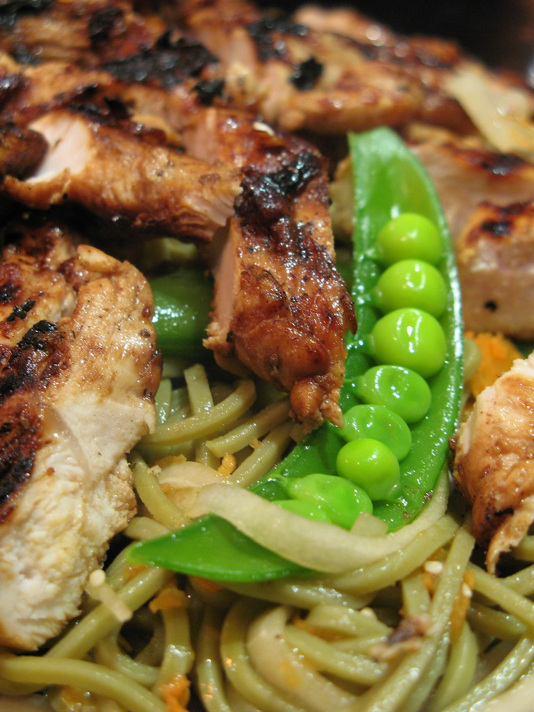 Cold Soba Salad and Grilled Chicken Dinner | Flickr - Photo Sharing!