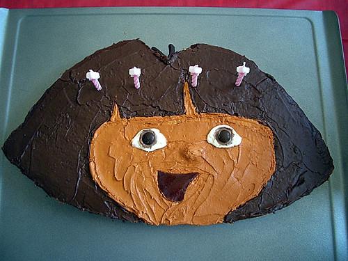Dora Cake Recipe In English: The Dora The Explorer Cake Nancy Made For Amy