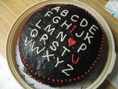 valentine s day cake The cake I made for my boyfriend on ...