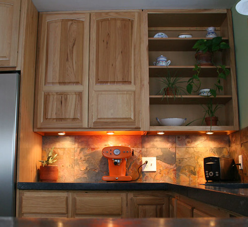 Hickory Cabinets With Concrete Countertops By Conklin Desi