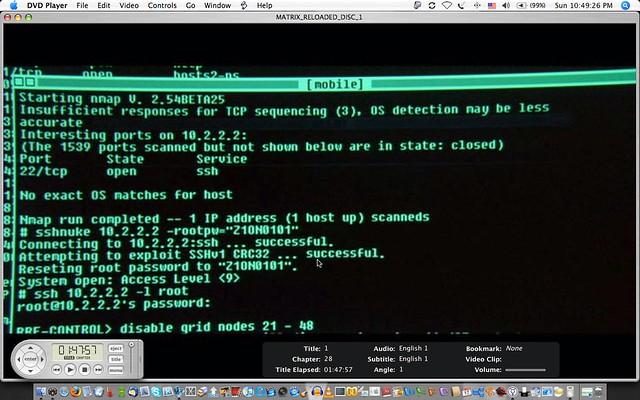 sshnuke hack in Matrix II 04 |...
