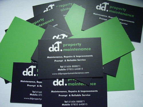 dd property maintenance business cards this is part of a p flickr