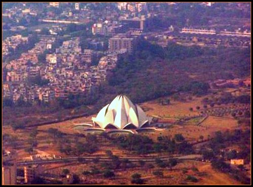 Aerial View Lotus Temple New Delhi Aerial View Captured