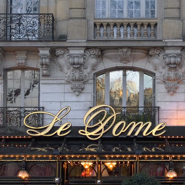 History Of Le Dome Cafe In Paris
