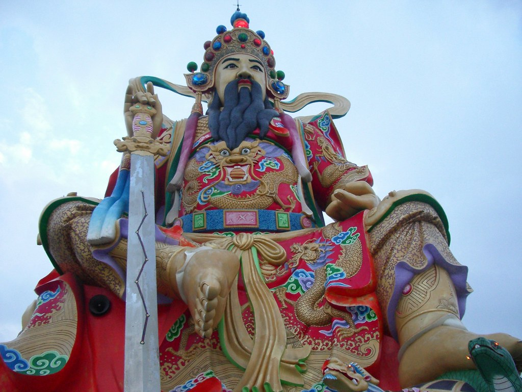 Colossus Of Taoist God Xuan Tian Shang Di 玄天上帝 Lotus