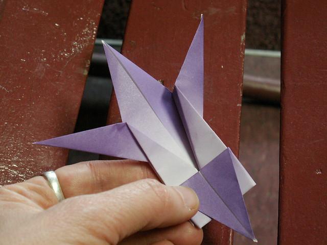 Origami pattern fleur de lys 41 origami fleur de lys pat flickr photo sharing - Origami fleur de lys ...