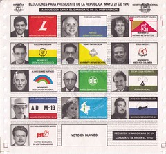 1990 Colombian Presidential ballot | by sltaylor