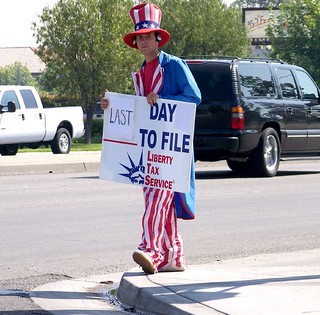 Uncle Sam on Tax Day | by 1Flatworld