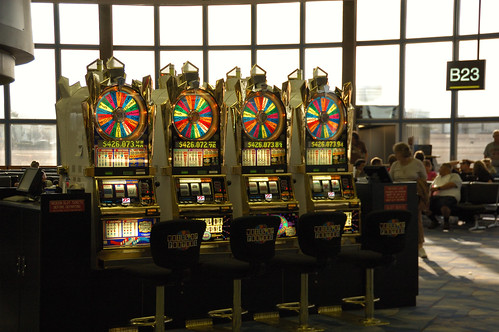 Slot Machines in the Las Vegas Airport | by Rob Burke