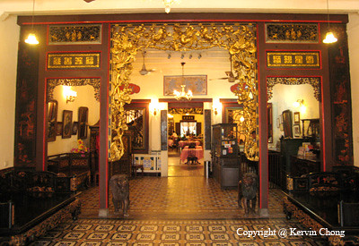 Peranakan Restaurant Decor The Carved Entrance One You