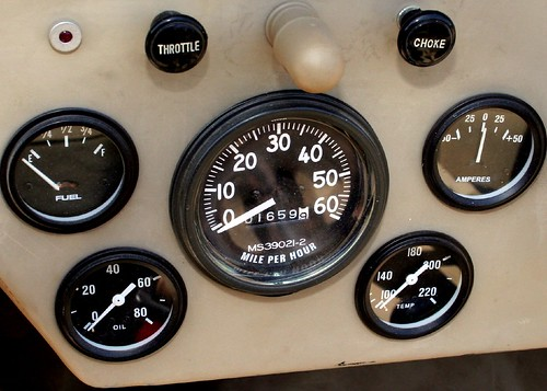 Willys Jeep Instrument Cluster Gauges And Knobs On The