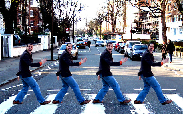 THE 5TH BEATLE CROSSING ABBEY ROAD WALLPAPER 1280 X 800