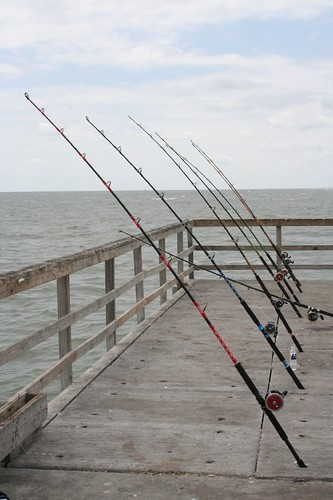 Fishing Off The Bob Hall Pier Corpus Christi Texas