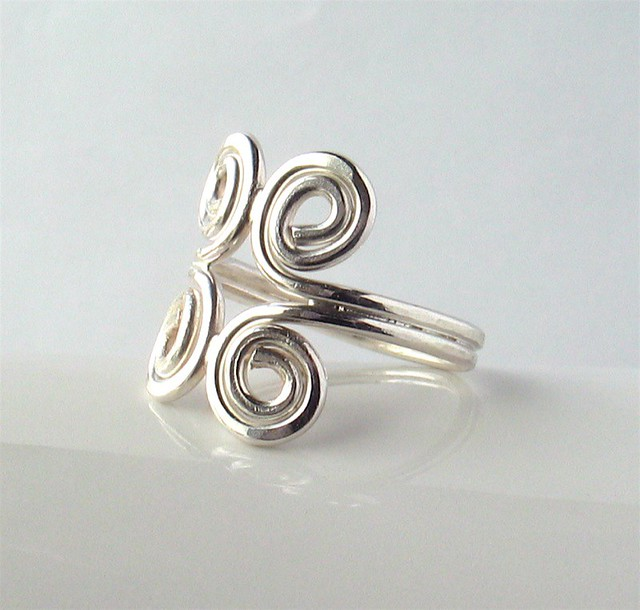 soldered silver ring soldered ring made of 1 2 mm