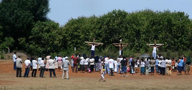 Semana Santa Crucifixion Ceremony