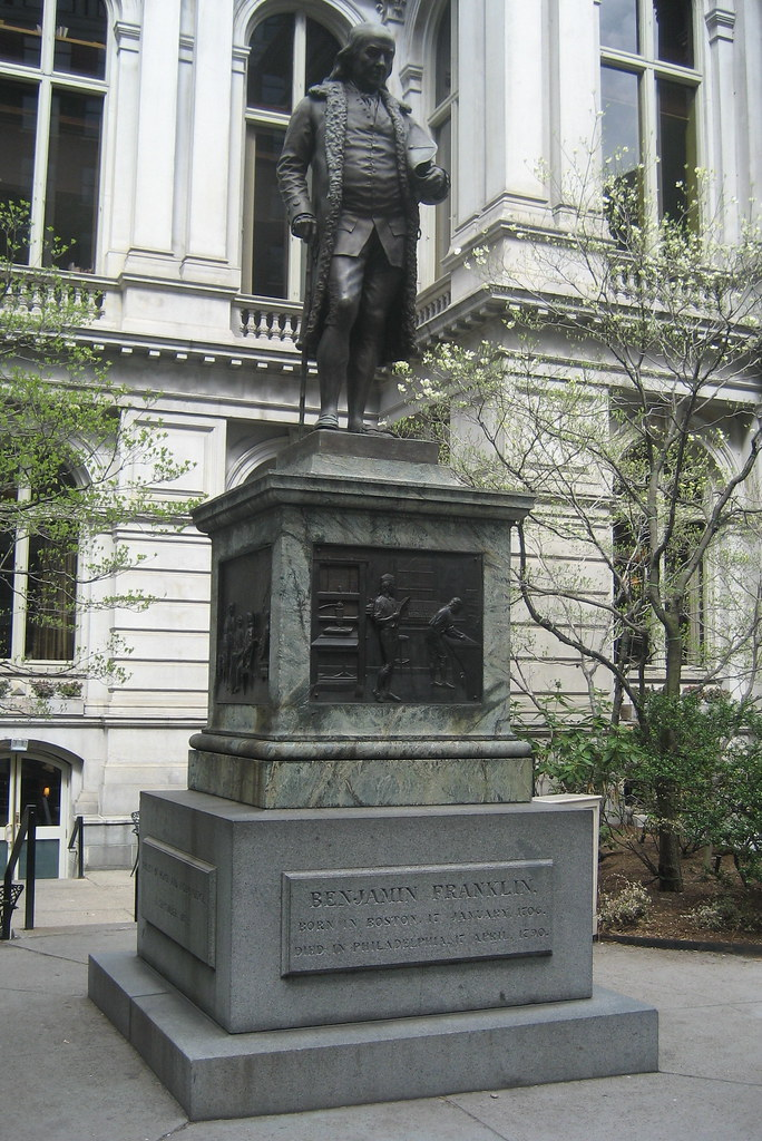 Boston Freedom Trail Old City Hall Benjamin Franklin