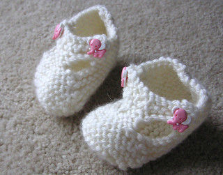 knit baby booties | by normanack
