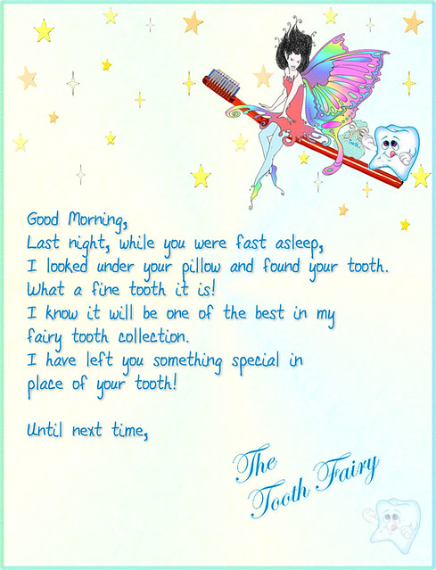 Tooth Fairy Letter 1 | Visit my site Multimedia Design by ...