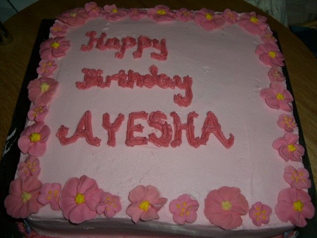 Resep Cake Ketofastosis: Birthday Cake Pictures With Name Ayesha