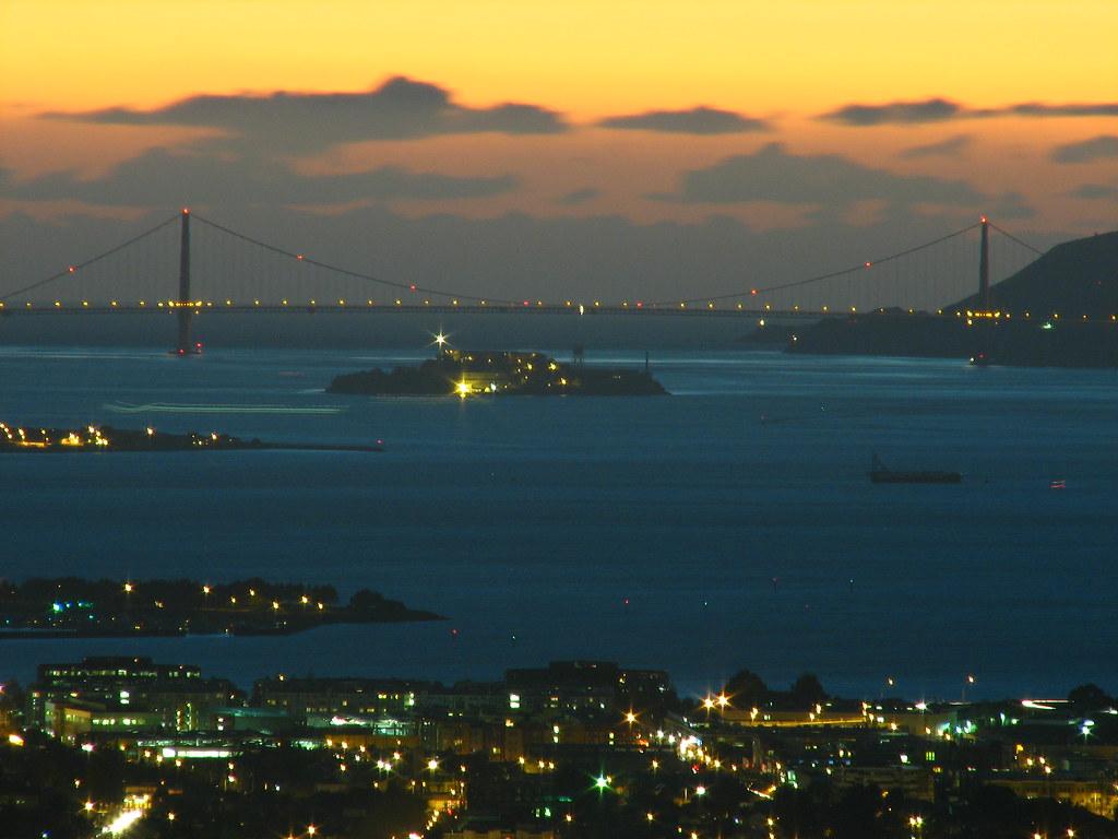 golden gate blue | san francisco bay and golden gate bridge