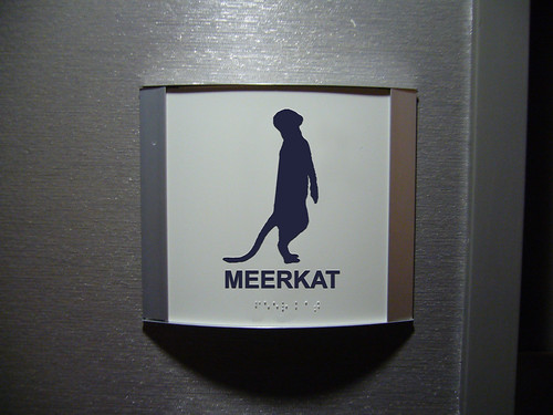 """Cubicle Meerkat"" Restroom Sign 