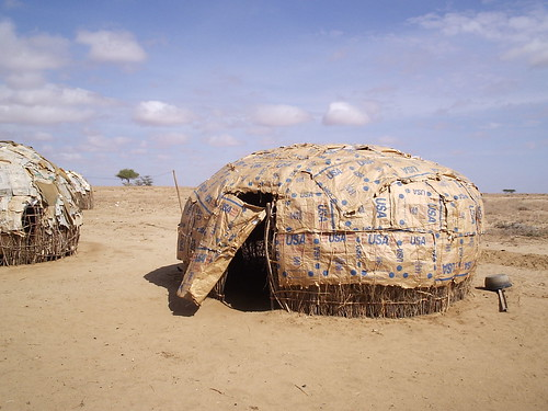 Rendille Home - Made of USAID Food Bags | by whiteafrican