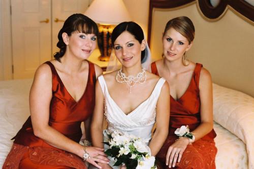 Radiant Bride Wedding Video Photography: Wedding Hair : Radiant Bride And Bridesmaids